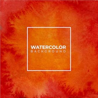 Fundo laranja textura aquarela abstrata, pintura à mão. salpicos de cor no papel