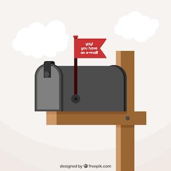 Fundo letterbox em design plano
