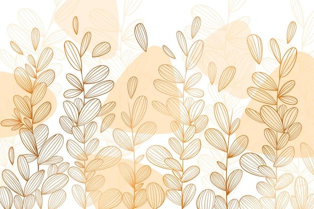 Fundo linear dourado do estilo gradiente