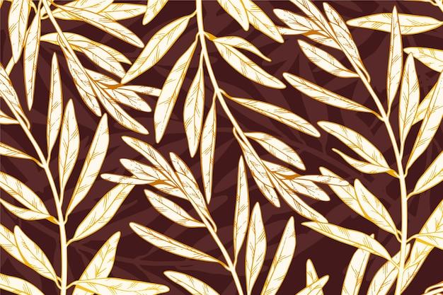 Fundo linear dourado gradiente Vetor grátis
