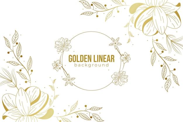 Fundo linear dourado gradiente
