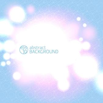 Fundo linear geométrico abstrato azul e rosa e luzes de bokeh claro