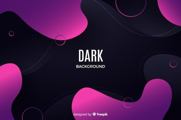 Fundo líquido abstrato escuro