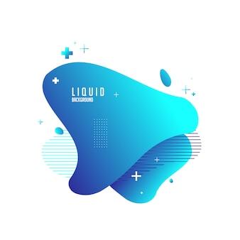 Fundo líquido com cor azul