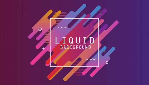 Fundo líquido com gradiente colorido