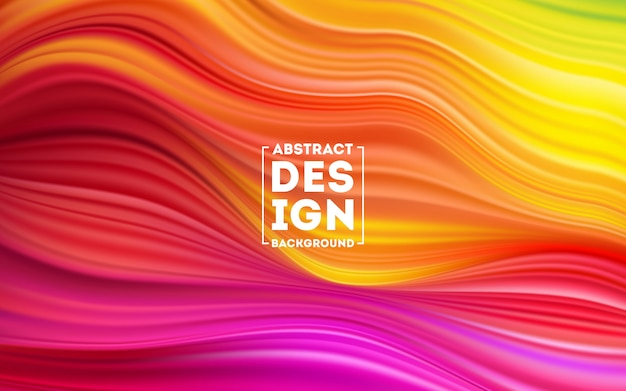 Fundo líquido da cor da forma da onda, cartaz colorido moderno do fluxo