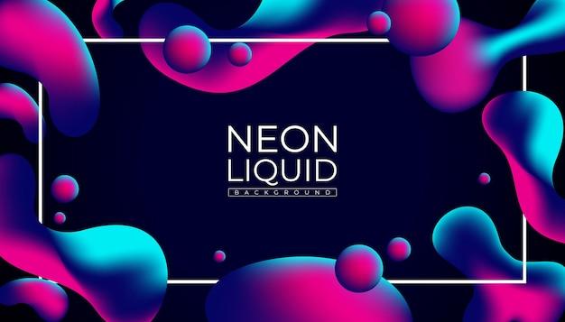 Fundo líquido de néon futurista abstrato