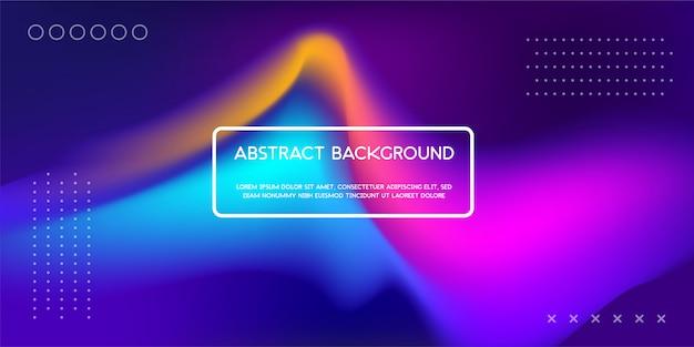 Fundo líquido dinâmico colorido para a página de aterrissagem da web