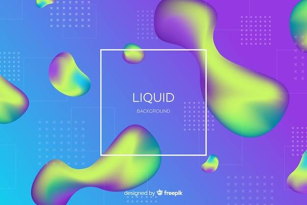 Fundo líquido duotônico de gradiente