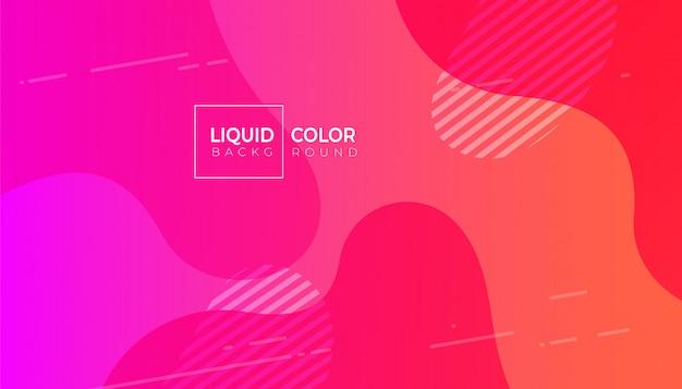 Fundo líquido fluido mínimo formas de plástico