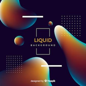Fundo líquido gradiente