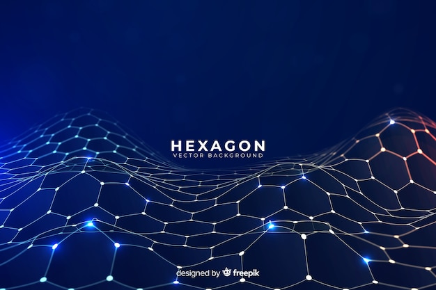 Fundo líquido hexagonal futurista