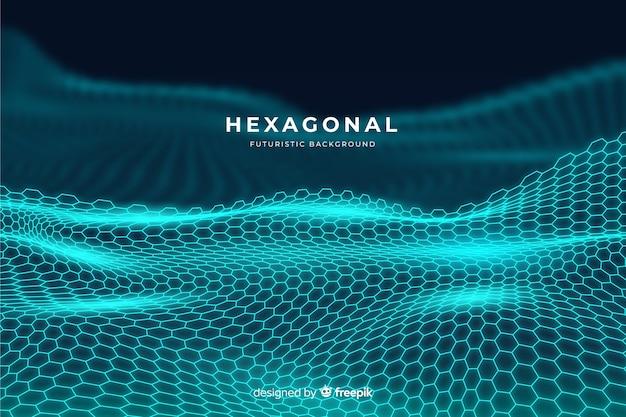 Fundo líquido hexagonal