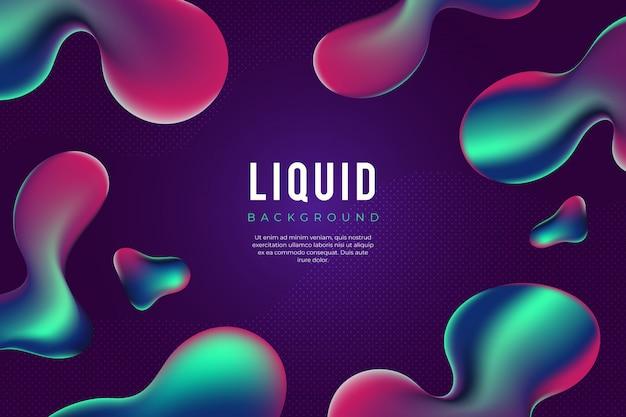Fundo líquido moderno