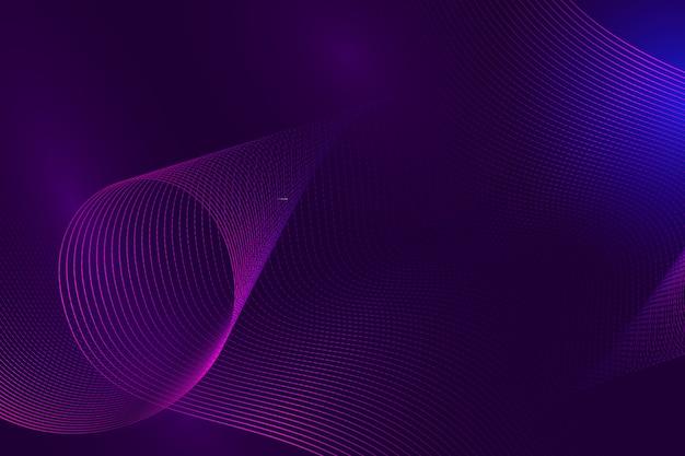 Fundo líquido ondulado violeta gradiente elegante