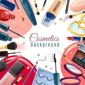 Fundo liso de cosméticos