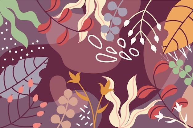 Fundo liso floral abstrato