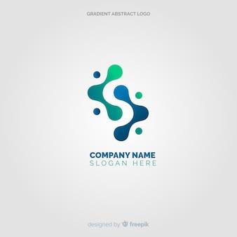 Fundo liso logotipo abstrato