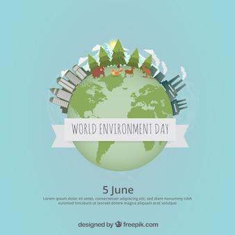 Fundo liso para o dia mundial do meio ambiente