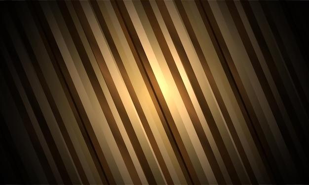 Fundo listrado abstrato de luxo dourado com fitas