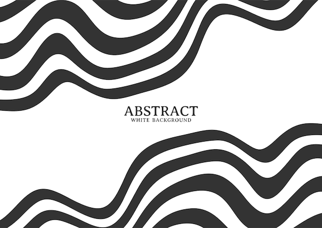 Fundo listrado abstrato preto e branco com linhas onduladas, padrão de fundo com linhas onduladas