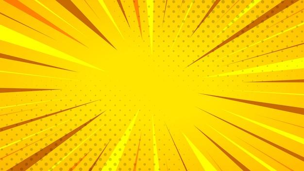 Fundo listrado amarelo abstrato. ilustração.