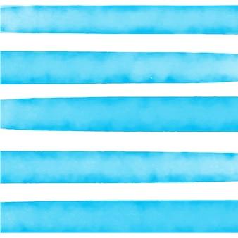 Fundo listrado azul aquarela