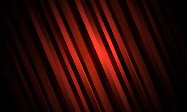 Fundo listrado de luxo abstrato vermelho escuro com fitas de metal gradiente