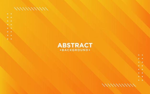 Fundo listrado laranja abstrato 3d