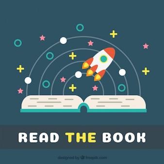 Fundo livro aberto e um mundo mágico