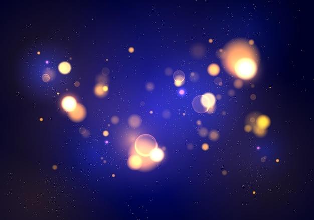 Fundo luminoso com bokeh de luzes coloridas