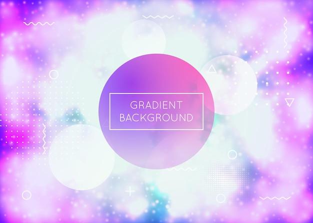 Fundo luminoso com formas de néon líquido. fluido roxo. capa fluorescente com gradiente bauhaus. modelo gráfico para folheto, interface do usuário, revista, cartaz, banner e app. fundo luminoso moderno.