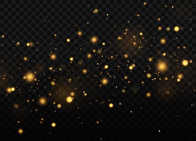 Fundo luminoso dourado festivo com luzes coloridas bokeh conceito de natal