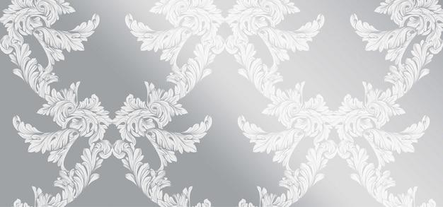 Fundo lustroso do padrão barroco. ornament decor para convite, casamento, cartões de saudação. ilustrações vetoriais