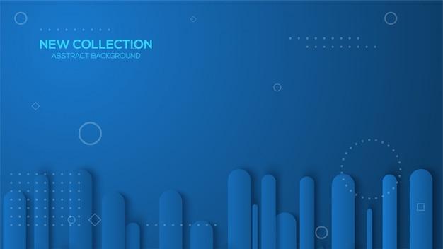 Fundo luxuoso com ilustrações de listras arredondadas azuis clássicas.