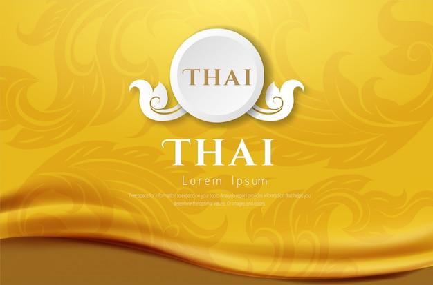 Fundo luxuoso, conceito tradicional tailandês as artes de thailan.