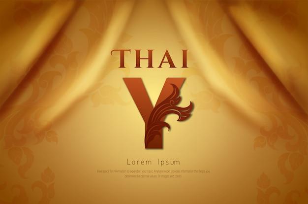 Fundo luxuoso, conceito tradicional tailandês.