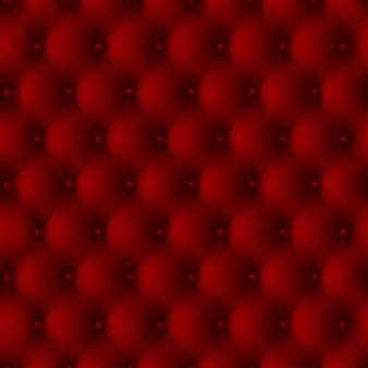 Fundo luxuoso do estofamento de couro vermelho com botões