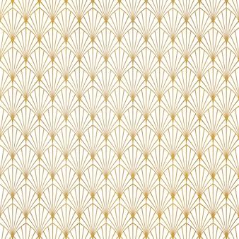 Fundo luxuoso do projeto do teste padrão abstrato do art deco do ouro.