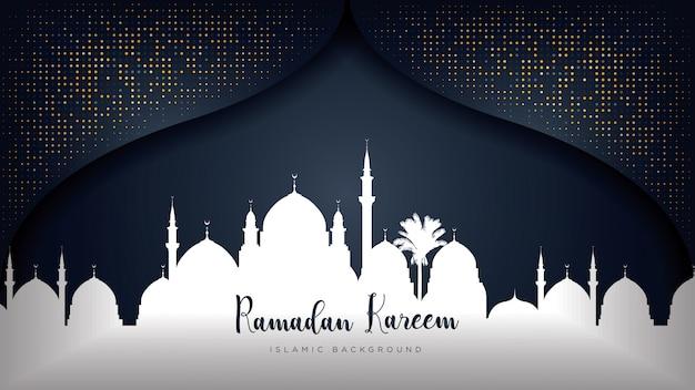 Fundo luxuoso do ramadan kareem.