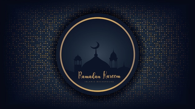 Fundo luxuoso do ramadan kareem.