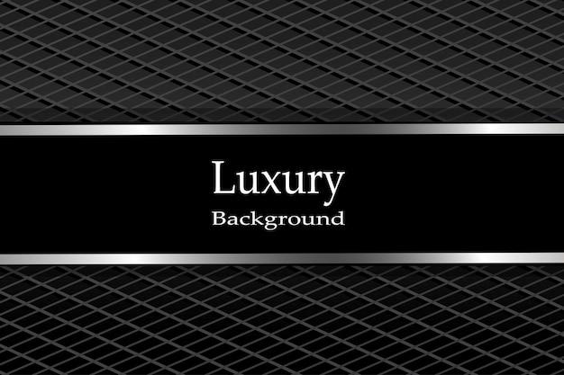 Fundo luxuoso fibra de carbono escura com linhas metálicas