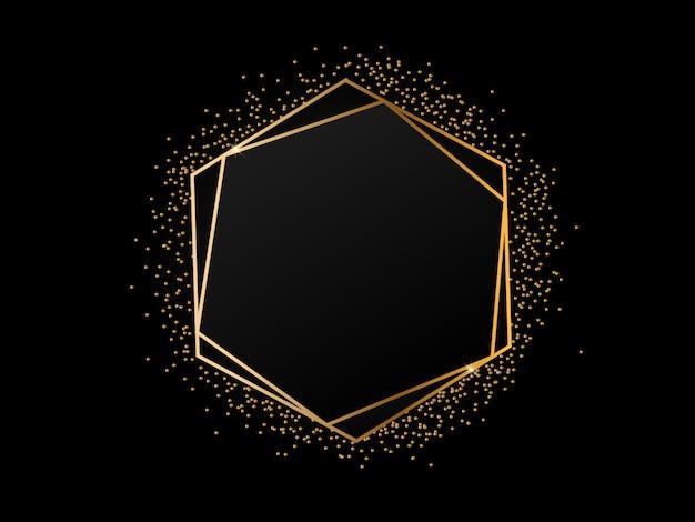 Fundo luxuoso moldura dourada
