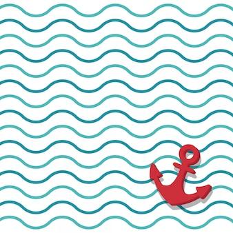 Fundo marinho de âncora
