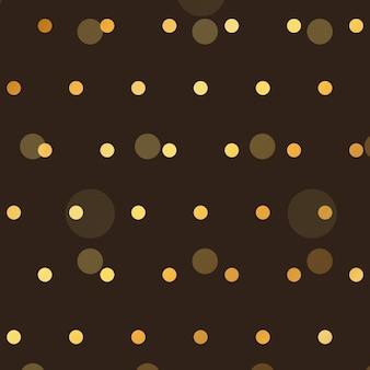Fundo marrom com pontos de estilo de ouro polca
