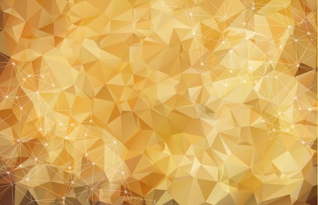 Fundo marrom poligonal abstrato.