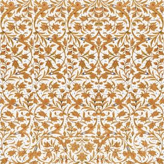 Fundo marrom vintage com padrão floral