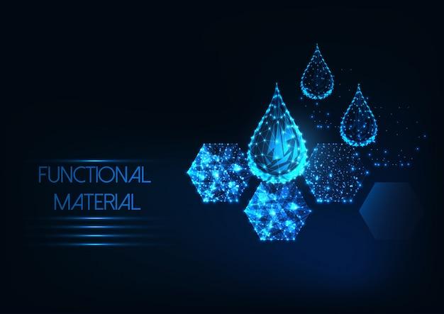Fundo material funcional futurista