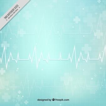 Fundo médico abstrato cardiograma