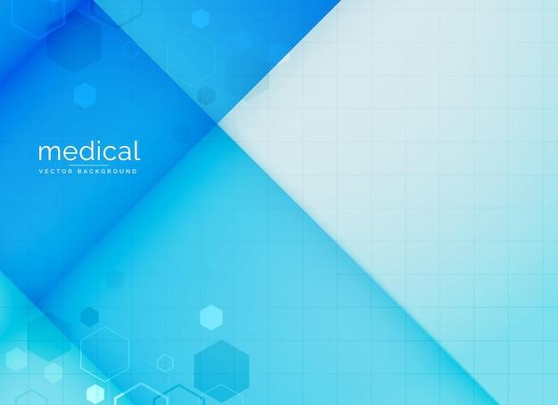 Fundo médico abstrato em cor azul